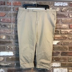 OLD NAVY Khakis Cropped Mid Rise